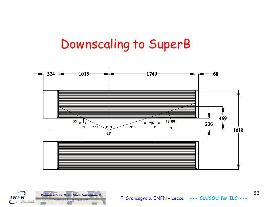 34 SuperB Drift Chamber Layout and assembly technique Length × Diameter : ~ 2.8 m × 0.8 m Spherical end plates: C-f.