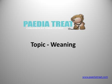 Topic - Weaning  Weaning From Baby's Perspective If your baby was sleeping with you because of breastfeeding conveniences, and then.