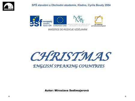 CHRISTMAS ENGLISH SPEAKING COUNTRIES