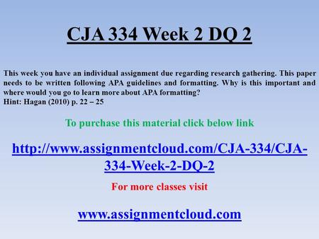 cja 484 week 5 paper Cja 484 week 5 individual assignment global perspectives assessment (2 papers) (new syllabus) this tutorial was purchased 25 times & rated a+ by student like you cja484 week 5 global perspectives assessment write a 1,400- to 2,100-word paper in which you assess criminal justice from a global perspective.