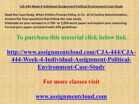 political environment case study analysis