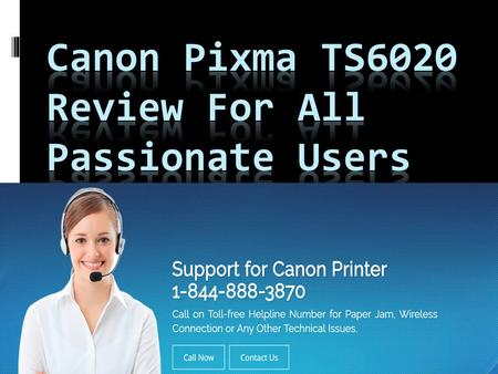 With the support of excellent software engineers, Canon has launched Canon's Pixma TS6020 inkjet all-in-one printer. It offers fast and high-quality images.