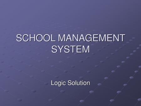 Web School Manager Fee Management Time Table Ppt Video