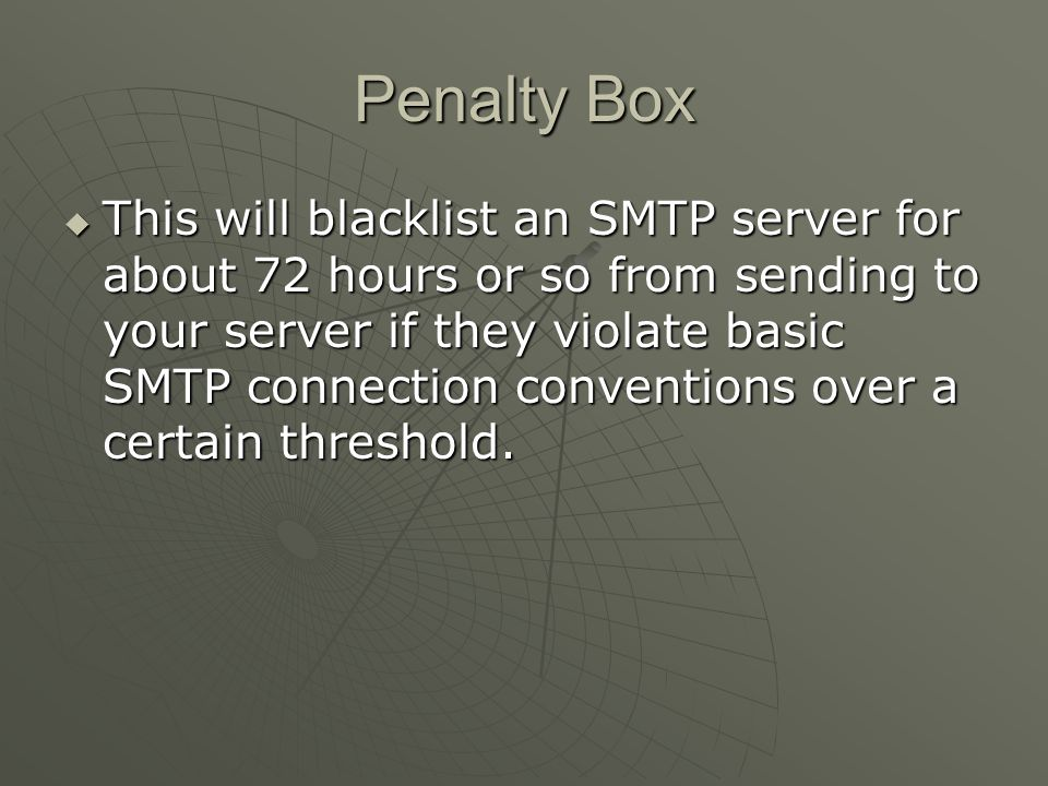 SMTP Ports For example, internet mail needs to connect to ASSP on port 25 (ASSP s listen port), and ASSP can proxy to your mail server on port 125 (or any port you choose) -- ASSP s SMTP Destination.