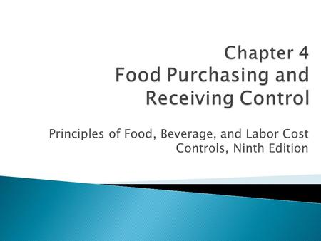 food purchasing cost control Management can then decide if monthly food costs are under control  the information needed to fill in the food cost record are the daily food purchase.