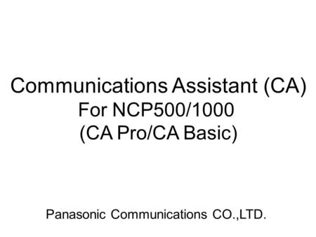 Communications Assistant (CA)