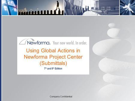 Using Global Actions in Newforma Project Center (Submittals)