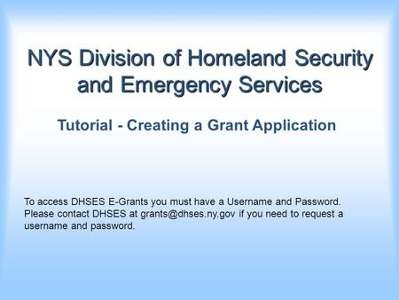NYS Division of Homeland Security and Emergency Services