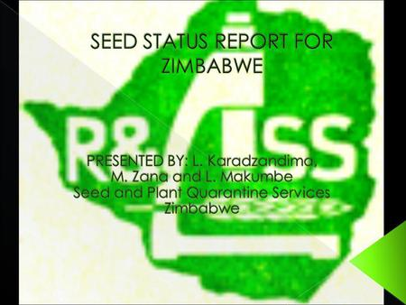 INTRODUCTION SEED SERVICES Seed laws Variety Release system Seed certification Necessary changes for harmonisation Institutional Capacity and Constraints.