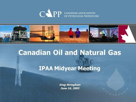 Canadian Oil and Natural Gas IPAA Midyear Meeting Greg Stringham June 16, 2005.
