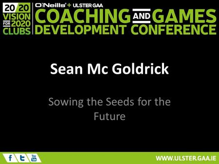 Sean Mc Goldrick Sowing the Seeds for the Future.