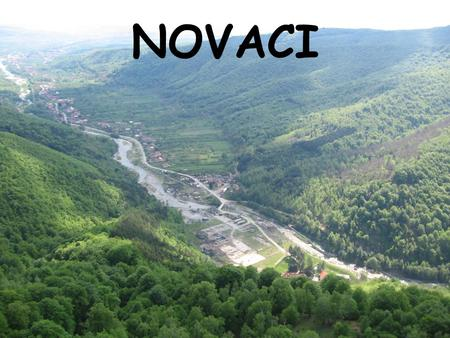 NOVACI. The city 45 Kms of Targu Jiu. –Some bus go there Population : about 7000 inhabitants –45% women –55% men The locality is composed of some villages.