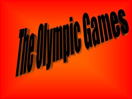 What Are Olympics? The Olympics are a great sporting event held every four years between different nations.