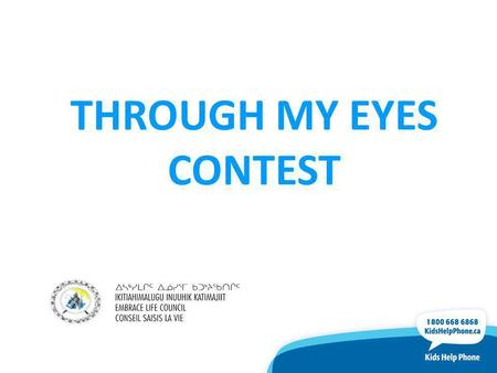 THROUGH MY EYES CONTEST