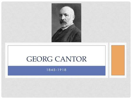 1845-1918 GEORG CANTOR. FAMOUS FOR: Inventor of Set Theory One-to-One Correspondences/Bijection Theory of Transfinite Numbers Cardinality of Infinite.