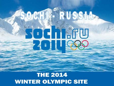 Sochi is a year-round open Resort, the largest in Russia, located on the Black Seacoast, near the border between Georgia/Abkhazia and Russia. The city.