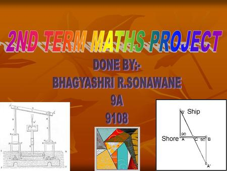 2ND TERM MATHS PROJECT DONE BY:- BHAGYASHRI R.SONAWANE 9A 9108.