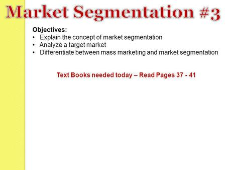 Text Books needed today – Read Pages