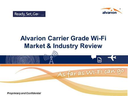 Alvarion Carrier Grade Wi-Fi Market & Industry Review