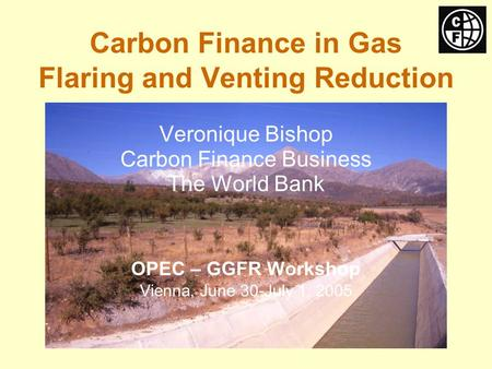 Carbon Finance in Gas Flaring and Venting Reduction Veronique Bishop Carbon Finance Business The World Bank OPEC – GGFR Workshop Vienna, June 30-July 1,