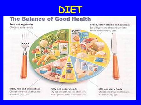 DIET. WHAT ARE THE 7 FACTORS OF A BALANCED DIET ?