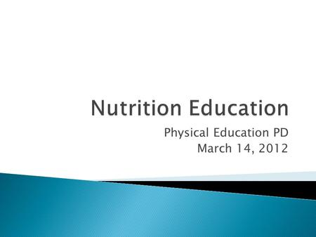 Physical Education PD March 14, 2012. What is the most serious public health issue today?
