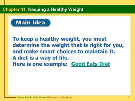 Here is one example: Good Eats Diet