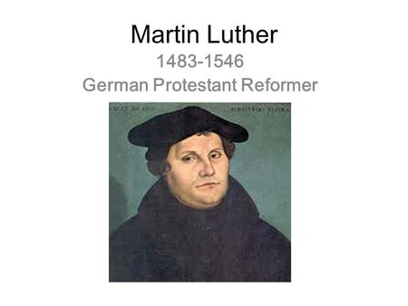 German Protestant Reformer