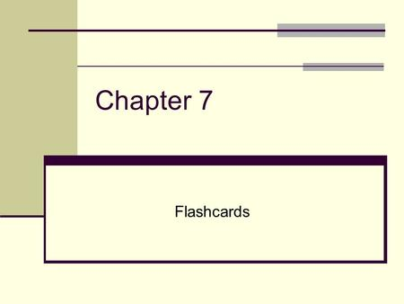 Chapter 7 Flashcards. overall plan that describes all of the elements of a research or evaluation study, and ideally the plan allows the researcher or.