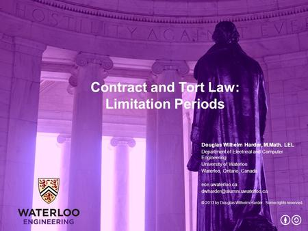 Contract and Tort Law: Limitation Periods