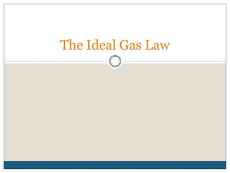 The Ideal Gas Law. Review Recall the equation of the constant (k) for each law: Boyles Lawk B = PV Gay-Lussacs Lawk G = P/T Charless Lawk C = V/T Avogadros.