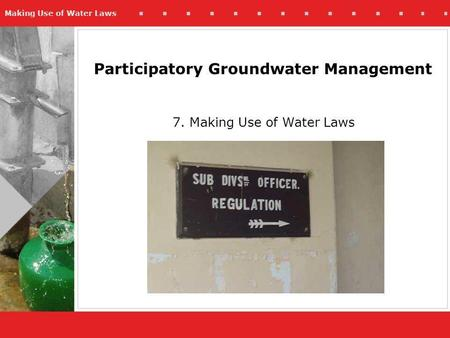 Irrigation management participatory pdf