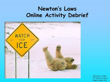 Newton's Laws Online Activity Debrief