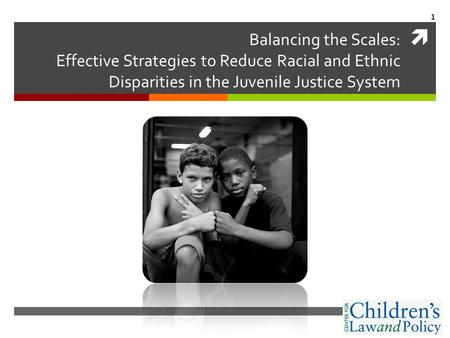 Balancing the Scales: Effective Strategies to Reduce Racial and Ethnic Disparities in the Juvenile Justice System 1.