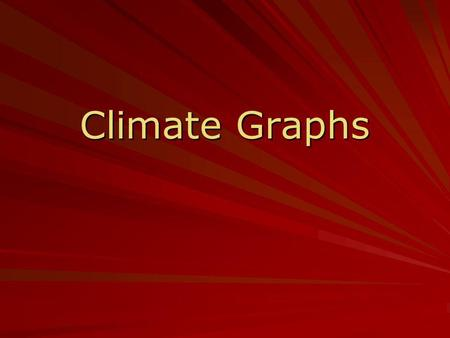 Climate Graphs.