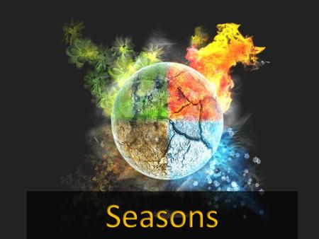 What do you KNOW about seasons? The Big Idea Students will understand how Earths tilt on its axis changes the length of daylight and creates the seasons.