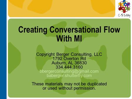 Creating Conversational Flow With MI