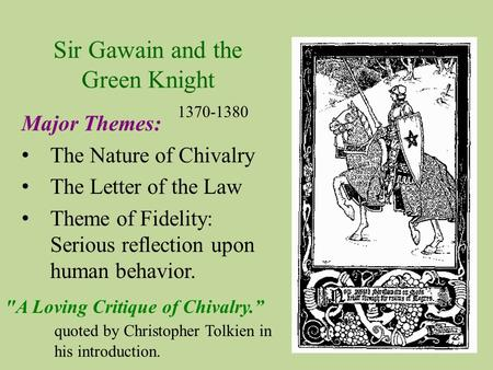 A test of the virtues of a knight in sir gawain and the green knight