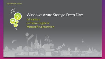Windows Azure Storage Deep Dive
