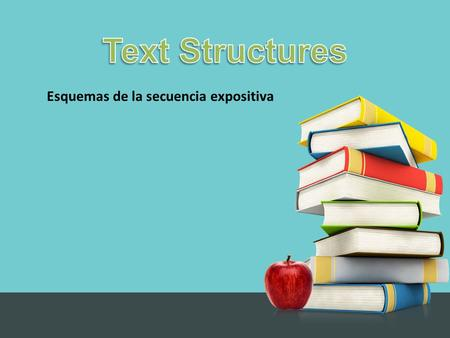 Esquemas de la secuencia expositiva. Why Do Authors Use Different Text Structures? To organize and present information in order to affect readers in various.