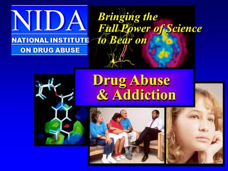 Bringing the Full Power of Science to Bear on Bringing the Full Power of Science to Bear on NIDA NATIONAL INSTITUTE ON DRUG ABUSE Drug Abuse & Addiction.