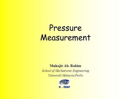 Pressure Measurement Muhajir Ab. Rahim