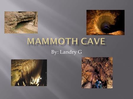 By: Landry G. Map of the United States showing the location of Mammoth Cave National Park in Kentucky.