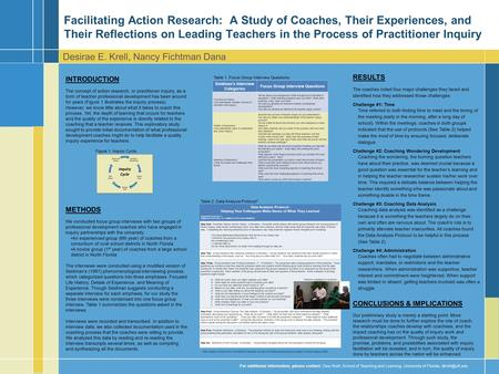 INTRODUCTION The concept of action research, or practitioner inquiry, as a form of teacher professional development has been around for years (Figure 1.