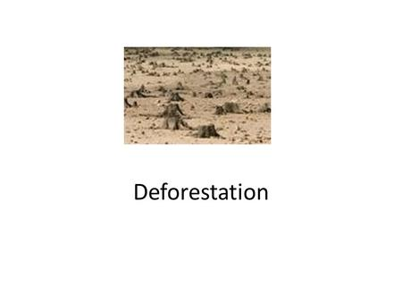 Deforestation. What is deforestation? Deforestation refers to the cutting, clearing, and removal of rainforest or related ecosystems into less bio-diverse.