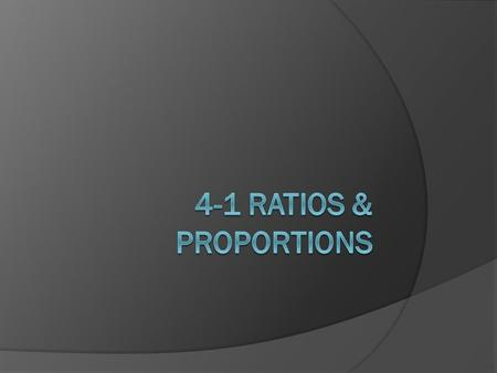 A ratio is a comparison of two quantities. Ratios can be written in several ways. 7 to 5, 7:5, and name the same ratio. Notes.