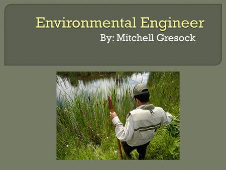 By: Mitchell Gresock.  Develop solutions to environmental problems  Are involved in efforts to improve recycling  Design projects that will lead to.