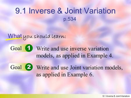 Inverse, Joint, and Combined Variation - ppt video online ...