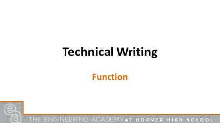 Technical Writing Function. The purpose of having guidelines is to make the document more readable. Standard guidelines govern – Format – page layout,