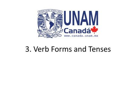3. Verb Forms and Tenses.